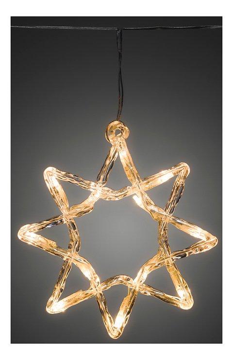 Konstsmide Lichtervorhang 5 Acrylsterne 60 LED Dioden 2m außen transparent - Pic 1