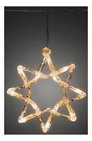 Konstsmide Lichtervorhang 5 Acrylsterne 60 LED 2 m außen transparent