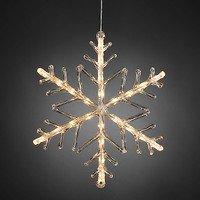 Konstsmide LED Leuchtanhänger Schneeflocke  24 LED warmweiß außen Acryl  transparent