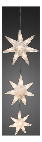 Konstsmide Leuchtdekoration 3 Sterne Acryl 24 LED 60cm innen transparent