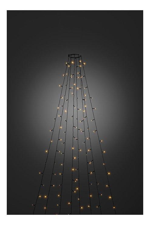 Konstsmide Lichterkette Baummantel 8 Stränge 400 LED bernstein Blinkfunktion 4m außen schwarz - Pic 1
