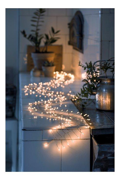 Konstsmide Lichterkette Firecracker 200 LED bernstein Silberdraht 2 m - Pic 1