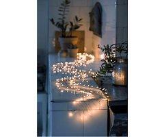 Konstsmide Lichterkette Firecracker 200 LED bernstein Silberdraht 2 m