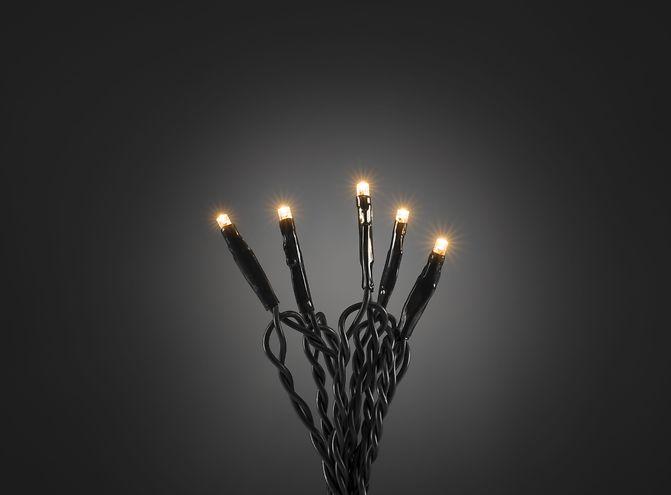 Konstsmide LED Lichterkette 100 LED bernsteinfarben innen 6,93m dunkelgrün