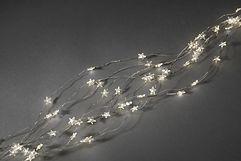 Konstsmide LED Lichterkette Sternenlametta 90 LED warmweiß innen 90cm silber
