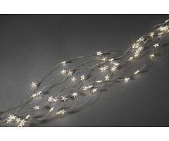 Konstsmide LED Lichterkette Sternenlametta 480 LED warmweiß innen 2m silber
