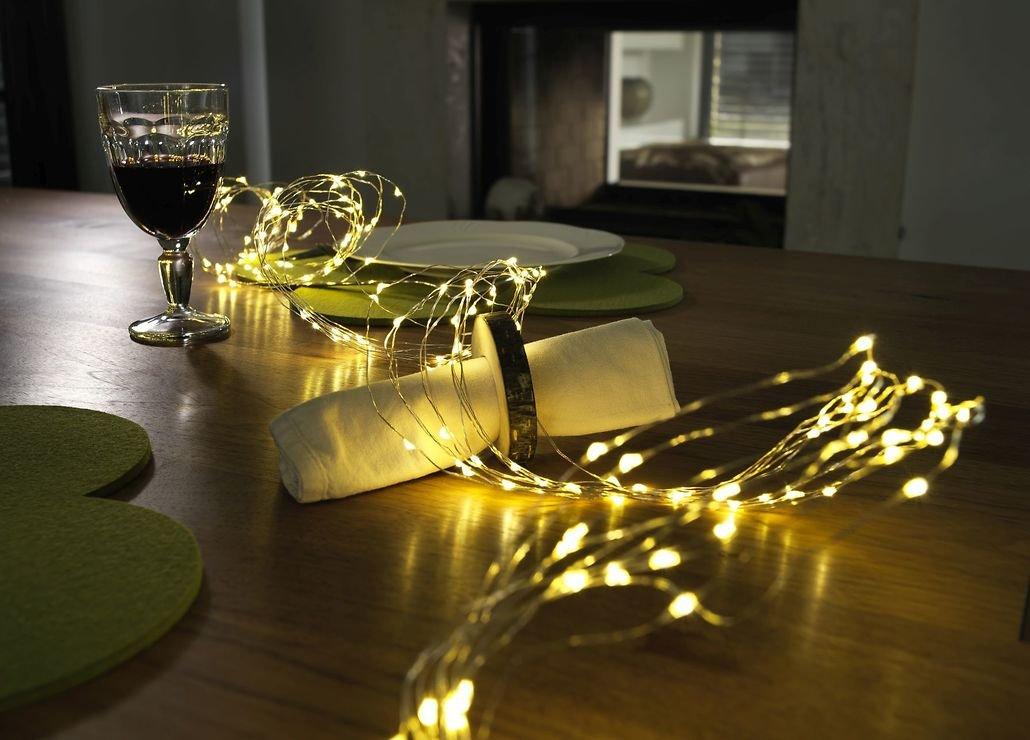konstsmide led lichterkette tropfenlametta 200 led warmwei innen 2m silber kaufen. Black Bedroom Furniture Sets. Home Design Ideas