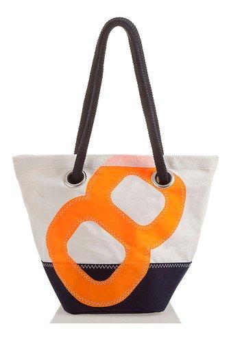 727 Sailbag Segeltuchtasche Legende 19 x 29 cm dunkelblau Nr. 8 orange