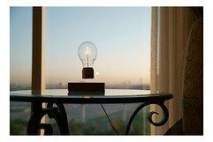 Flyte LED Tischlampe Royal Eichenholz