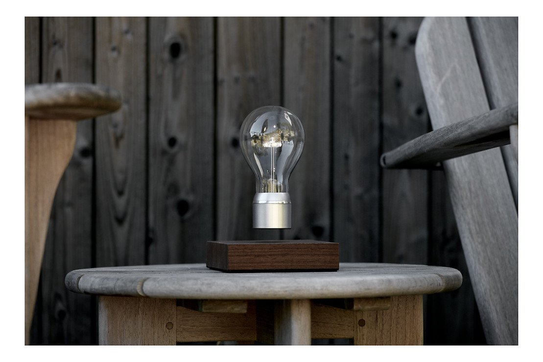 Flyte LED Tischlampe Manhattan Walnussholz - Pic 2