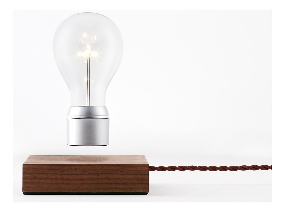 Flyte LED Tischlampe Manhattan Walnussholz - Pic 3