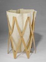 Klein & more Wäschekorb Holzgestell beige und  Marie Pi natur