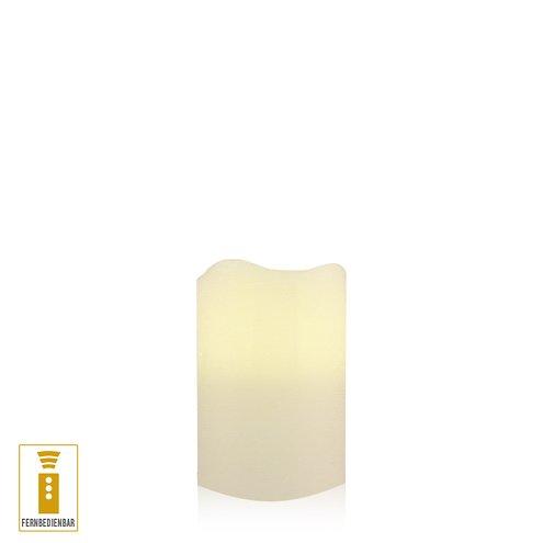 lichtdekor led echtwachskerze 7 5 x 10 cm timer fernbedienung elfenbein kaufen. Black Bedroom Furniture Sets. Home Design Ideas