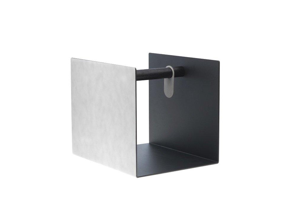 LINDDNA Aufbewahrungsbox Container Leder/Aluminium weiß - Pic 1