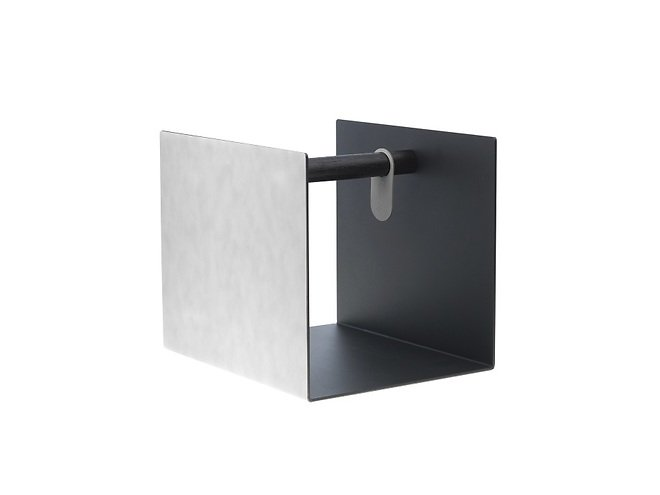 LINDDNA Aufbewahrungsbox Container Leder/Aluminium weiß