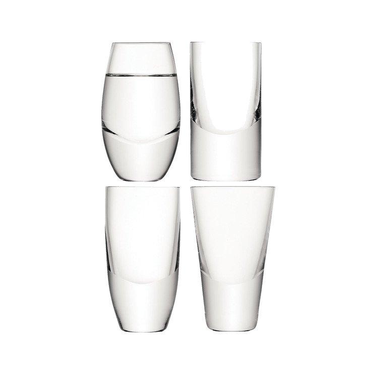 LSA Vodka Gläser Lulu 4 Stück Glas klar - Pic 1