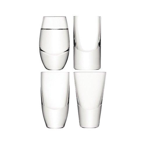 LSA Vodka Gläser Lulu 4 Stück Glas klar