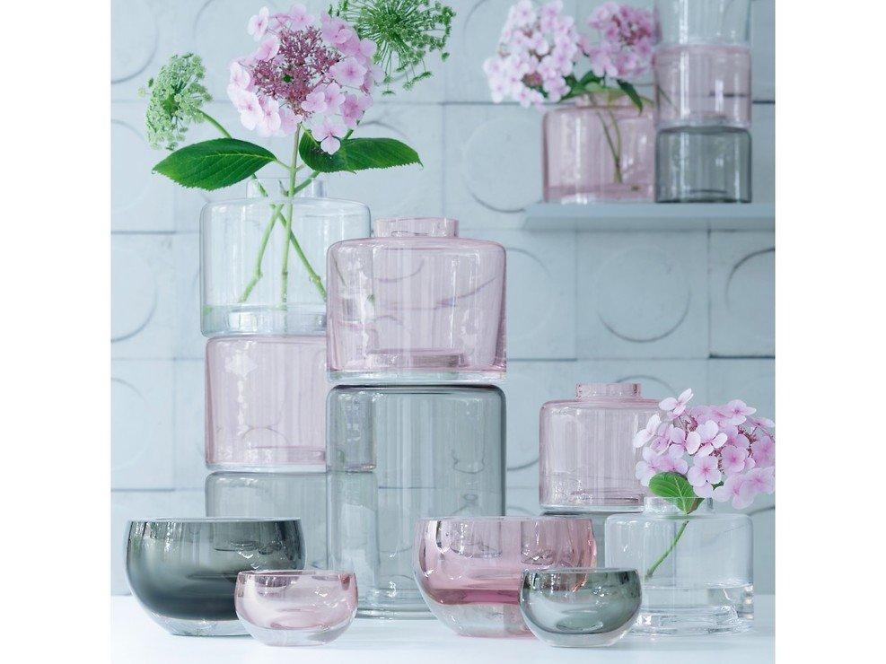 LSA Vase Stack Trio 30 cm Glas klar pink grey - Pic 3