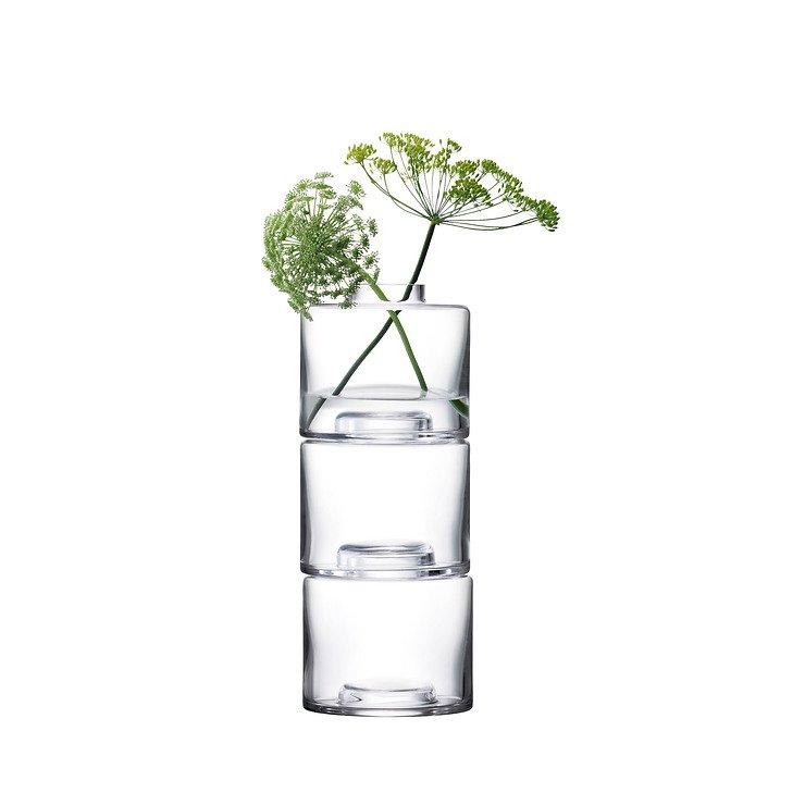 LSA Vase Stack Trio 30 cm Glas klar - Pic 2