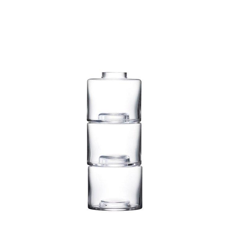 LSA Vase Stack Trio 30 cm Glas klar - Pic 1