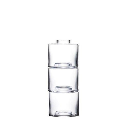 LSA Vase Stack Trio 30 cm Glas klar