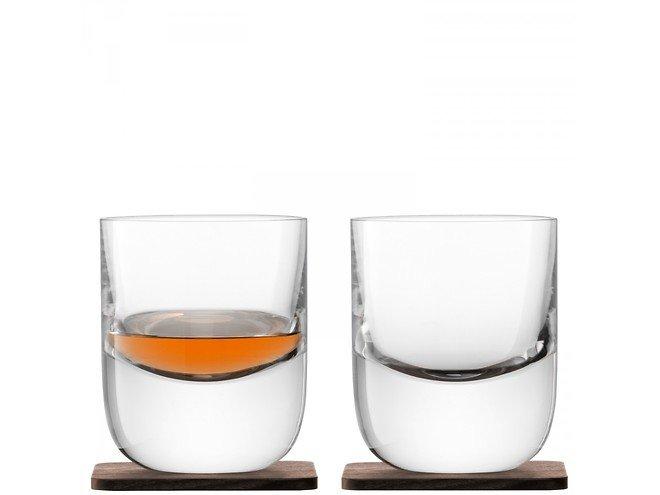 LSA Whiskyglas Renfrew 270ml mit Untersetzer 2er Set
