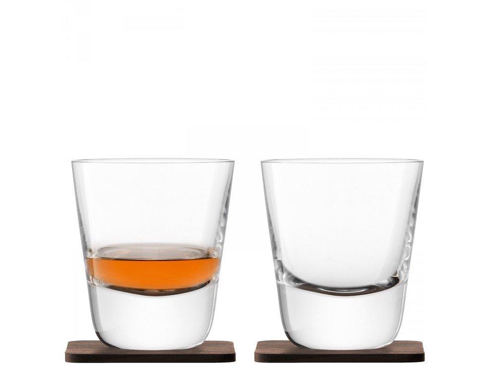 LSA Whiskyglas Arran 250ml mit Untersetzer 2er Set - Pic 1