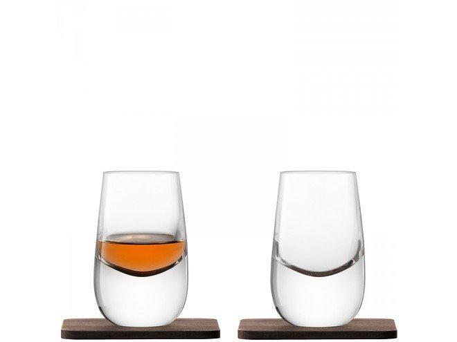 LSA Whiskyglas Islay 80ml mit Untersetzer 2er Set