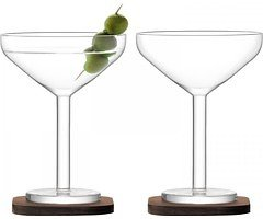 LSA Cocktailglas City Bar 250ml mit Untersetzer 2er Set