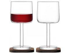 LSA Rotweinglas City Bar 300ml mit Untersetzer 2er Set