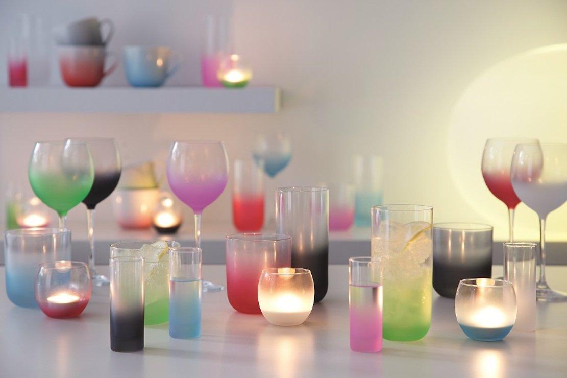 LSA Wasserglas Haze 325ml apfelgrün 4er Set - Pic 4