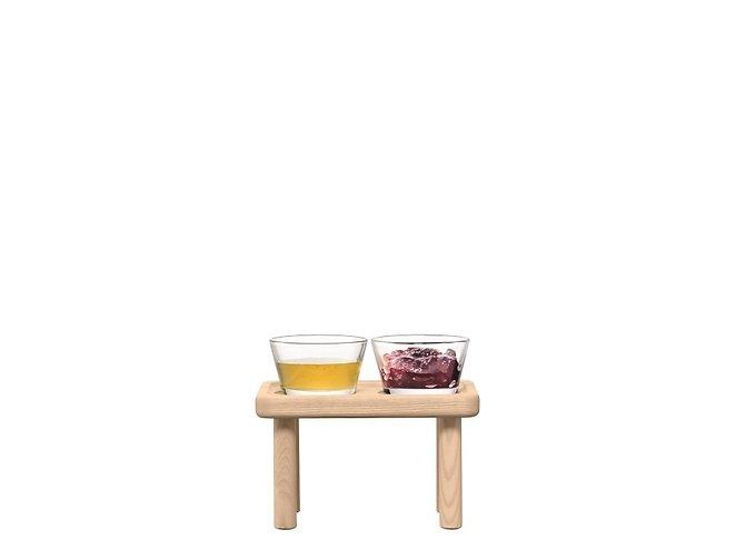 LSA Glasschalen & Ständer Silt Esche 19,5cm