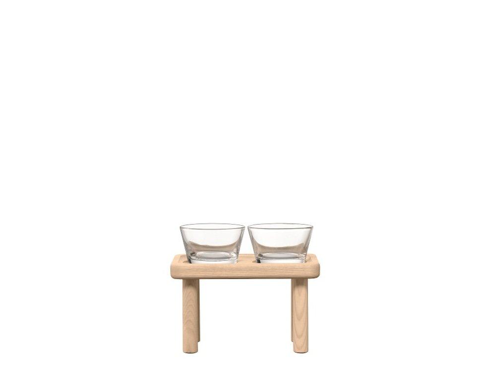 LSA Glasschalen & Ständer Silt Esche 19,5cm - Pic 2