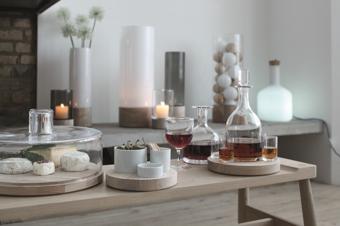 lsa servierplatte lotta mit haube glas esche 32cm kaufen. Black Bedroom Furniture Sets. Home Design Ideas