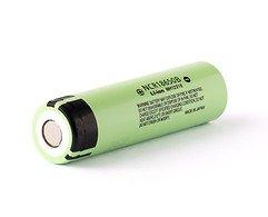 Panasonic NCR18650B 3.6V - 3.7V 3400mAh Li-Ion-Akku Batterie Pluspol flach