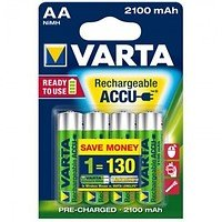 Varta 56706 AA Ready to Use Mignon Akku Batterie Rechargeable Ni-MH 1,2V 2100mAh 4 Stück