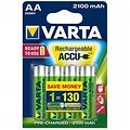 Varta 56706 AA Ready to Use Mignon Akku Batterie Rechargeable Ni-MH 1,2V 2100mAh 4 Stück - Thumbnail 1
