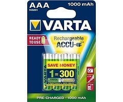 Varta 56703 AAA Ready to Use Micro Akku Batterie Rechargeable Ni-MH 1,2V 800mAh 4 Stück