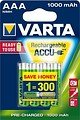 Varta 56703 AAA Ready to Use Micro Akku Batterie Rechargeable Ni-MH 1,2V 800mAh 4 Stück - Thumbnail 1