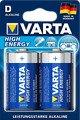 Varta 4920 High Energy Mono D Akku Batterie LR20 2 Stück - Thumbnail 1