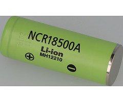 Panasonic NCR18500A 2040mAh - 3,8A Li-Ion-Akku Batterie Pluspol flach