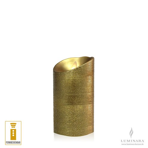 luminara led kerze 8 x 13 cm gold fernbedienbar kaufen. Black Bedroom Furniture Sets. Home Design Ideas