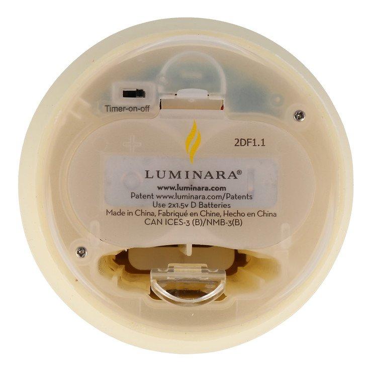Luminara LED Duftkerze 10x20 cm elfenbein fernbedienbar glatt - Pic 4