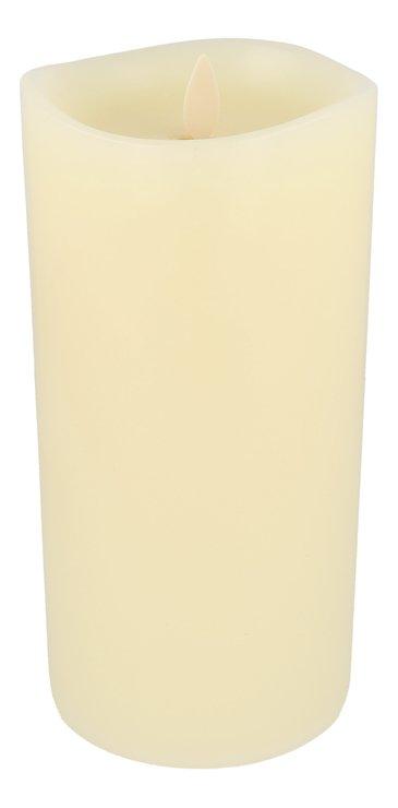 Luminara LED Duftkerze 10x20 cm elfenbein fernbedienbar glatt - Pic 1