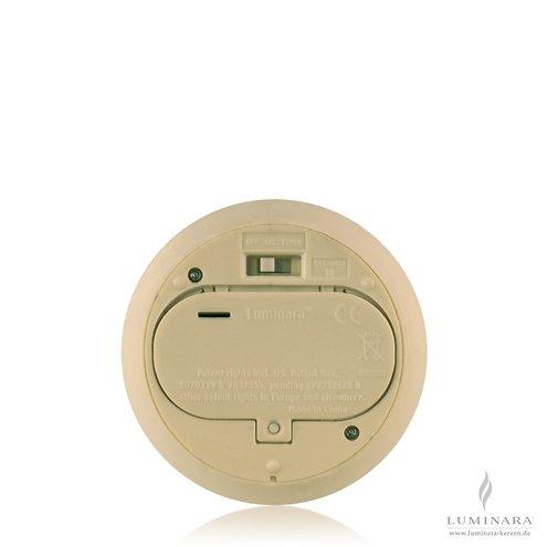 Luminara Ersatzdeckel Echtwachskerze D 10cm / D Batterien