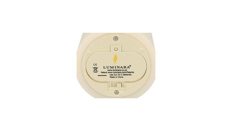 Luminara Ersatzdeckel Echtwachskerze D 8cm / C Batterien