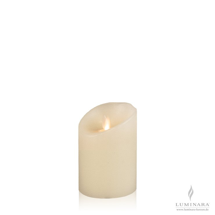 Luminara LED Kerze Echtwachs 8x11 cm elfenbein glatt AKTION - Pic 1