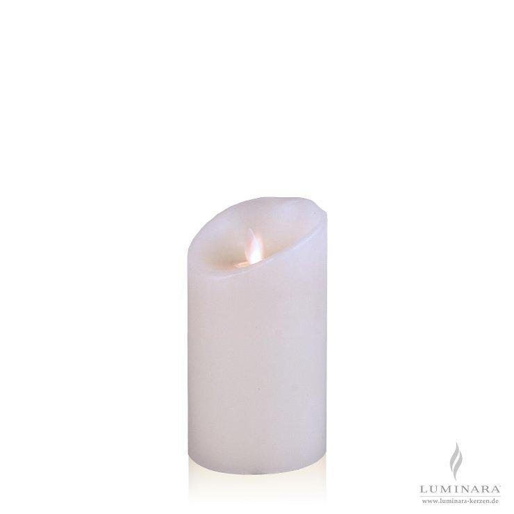luminara led kerze echtwachs 8x13 cm wei glatt aktion. Black Bedroom Furniture Sets. Home Design Ideas