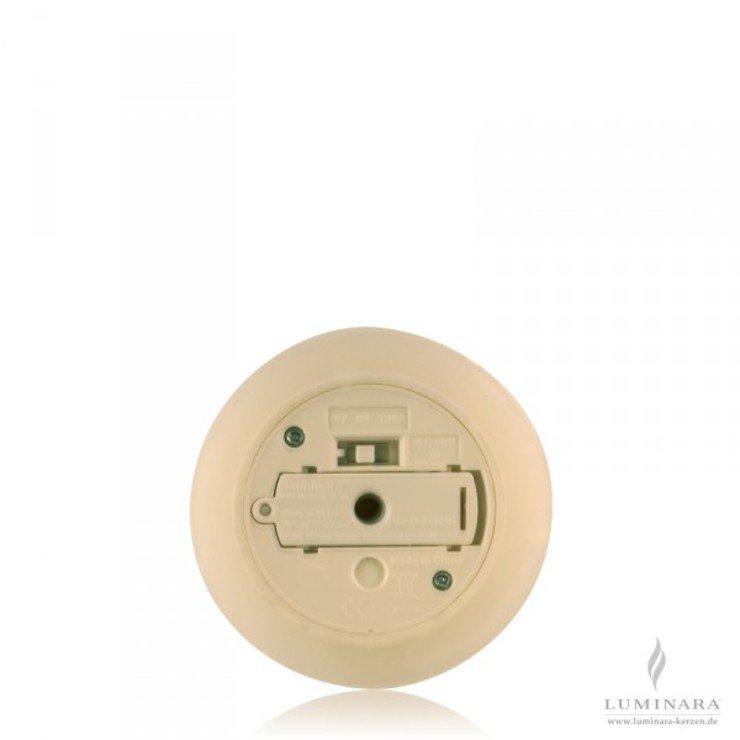 Luminara LED Kerze Echtwachs 8x13 cm elfenbein glatt AKTION - Pic 2