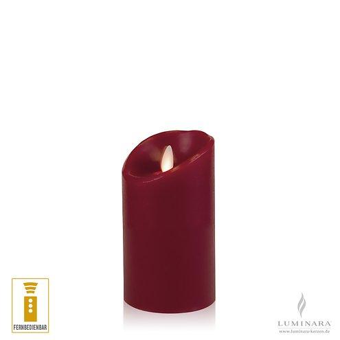 luminara led kerze echtwachs 8x13 cm bordeaux. Black Bedroom Furniture Sets. Home Design Ideas